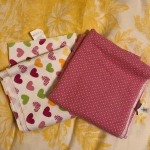 Two flannel receiving blankets
